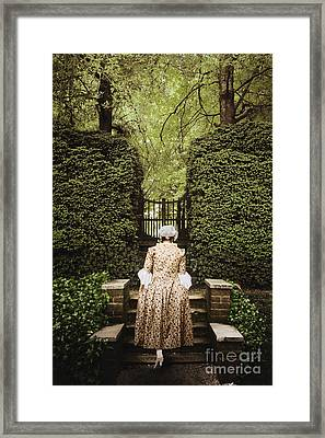 Garden Steps Framed Print by Margie Hurwich