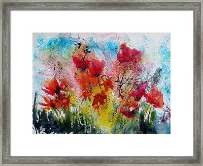 Framed Print featuring the painting Garden Tangle by Anne Duke