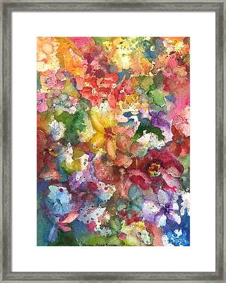 Garden - The Secret Life Of The Leftover Paint Framed Print
