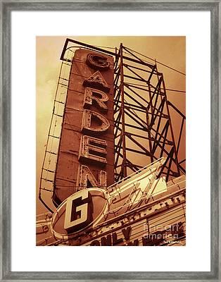 Garden Theater Framed Print