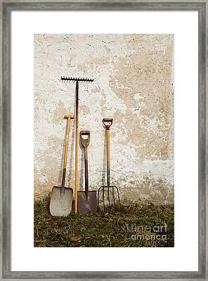 Garden Tools Framed Print by Kennerth and Birgitta Kullman