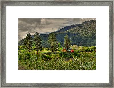 Garden Valley Framed Print