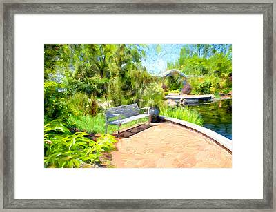 Garden View Series 28 Framed Print by Carlos Diaz