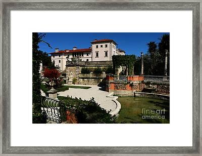 Garden View Villa Vizcaya Framed Print