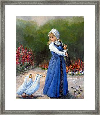 Garden Visitors Framed Print