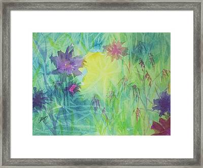 Garden Vortex Framed Print