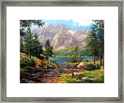 Garden Wall Framed Print by W  Scott Fenton