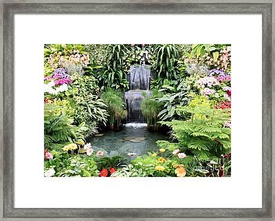 Garden Waterfall Framed Print