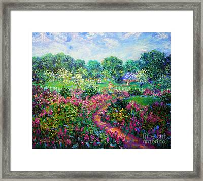 Garden Wedding Framed Print