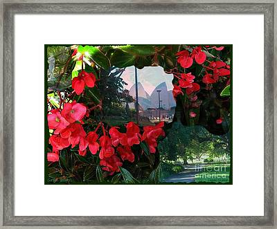 Framed Print featuring the photograph Garden Whispers by Leanne Seymour