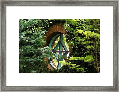Garden Window Framed Print by Kim Pate