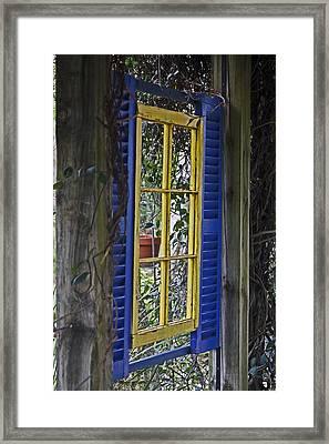 Garden Window Framed Print