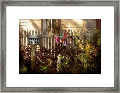 Garden - Zoar Oh - Ready For Rain Framed Print