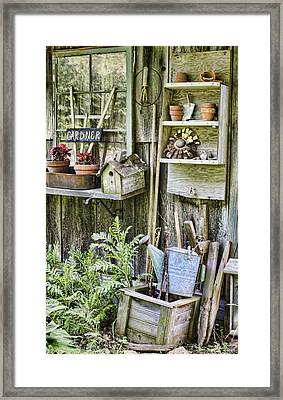 Gardener Corner Framed Print by Heather Applegate