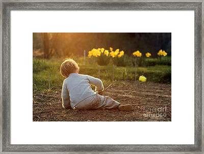 Gardener In Spring Framed Print