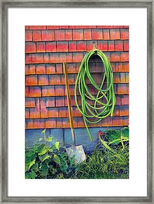 Gardener's Rest Framed Print by Cindy McIntyre