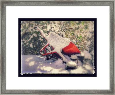 Gardener's Winter Dream Framed Print