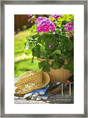 Gardening Framed Print by Elena Elisseeva