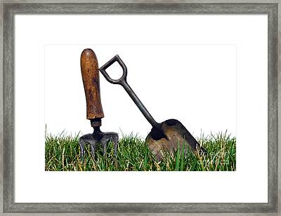 Gardening Tools Framed Print by Olivier Le Queinec
