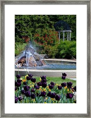 Framed Print featuring the digital art Gardens At Maymont by Kelvin Booker