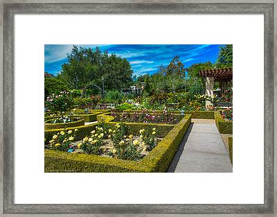Framed Print featuring the photograph Gardens Of The World by Ross Henton