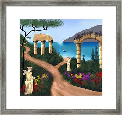 Gardens Of Venus Framed Print by Larry Cirigliano