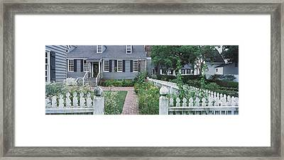 Gardens Williamsburg Va Framed Print by Panoramic Images
