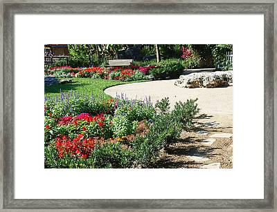 Gardenscape Framed Print by Aimee L Maher Photography and Art Visit ALMGallerydotcom