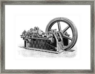 Gardner Gas Engine Framed Print by Science Photo Library