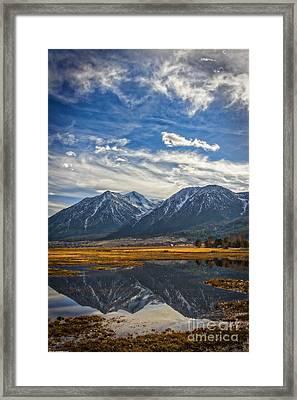 Gardnerville Nevada Framed Print by Mitch Shindelbower