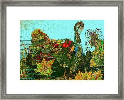 Framed Print featuring the drawing Gardone by Doug Petersen
