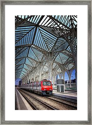 Gare Do Oriente Lisbon Framed Print by Carol Japp