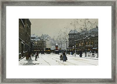 Gare Du Nord Paris Framed Print by Eugene Galien-Laloue
