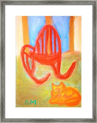 Garfie Rocking Chair And The Sky Framed Print by Sylvia Masri