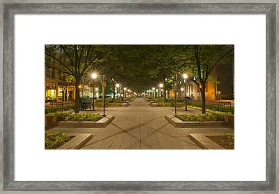 Garfield At Night Framed Print