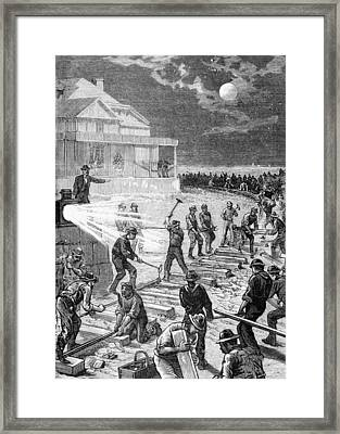 Garfield Railroad Construction, 1881 Framed Print by Science Photo Library