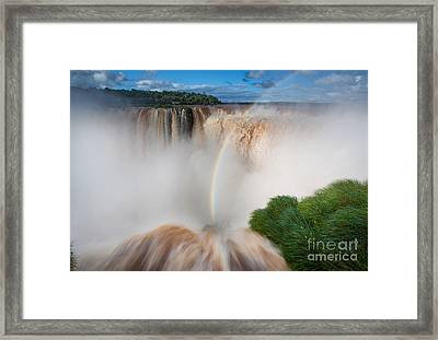 Garganta Del Diablo Framed Print by Inge Johnsson