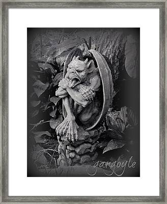 Gargoyle Framed Print by Brenda Conrad
