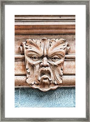 Gargoyle Head Helsingborg Framed Print