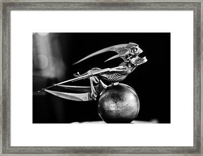 Gargoyle Hood Ornament 2 Framed Print by Jill Reger