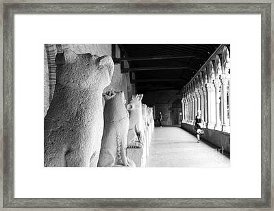 Framed Print featuring the photograph Gargoyles by Cendrine Marrouat