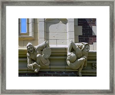 Gargoyles Of Art And Science Framed Print