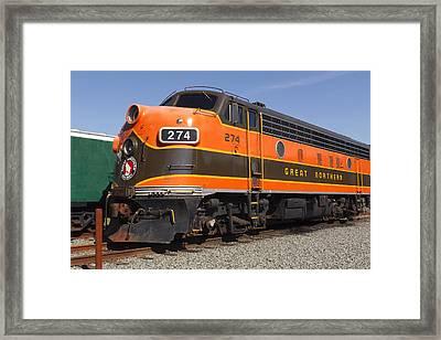 Garibaldi Locomotive Framed Print by Wes and Dotty Weber