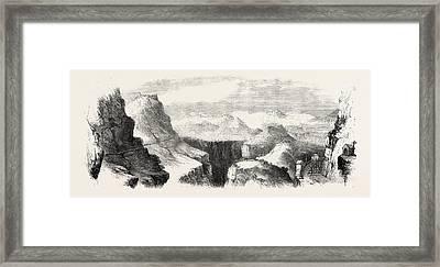Garibaldis March Through Calabria View From Maida Framed Print by Italian School