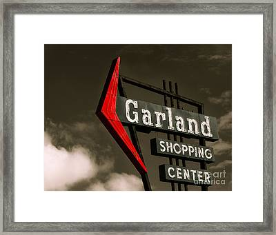 Garland Texas Shopping Framed Print