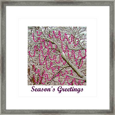 Garlands In The Snow Framed Print