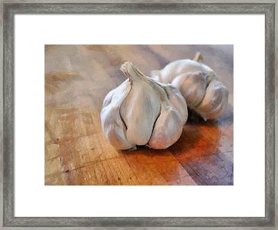 Garlic Cloves Framed Print