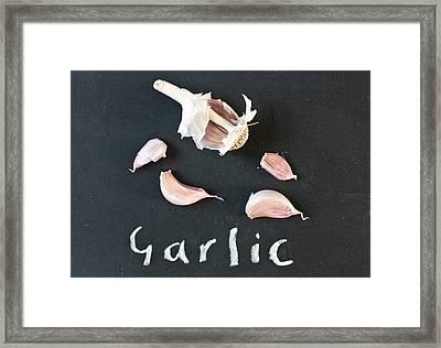 Garlic Framed Print by Tom Gowanlock