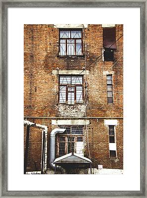 Garment Factory Framed Print by Nik Zapod