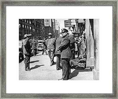 Garment Workers Attacked Framed Print